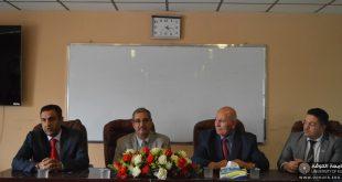 وفد من منظمة ( التنمية والتعاون التركية ) يزور كلية اللغات بجامعة الكوفة